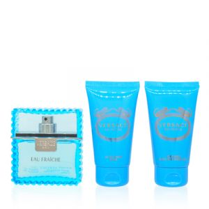 Versace Man Eau Fraiche For Men 3 Piece Gift Set